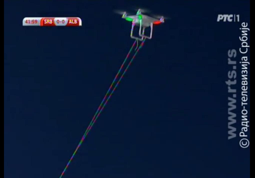 Dron sprowokował zamieszki pseudokibiców…