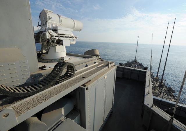 Działo laserowe, fot: US Navy