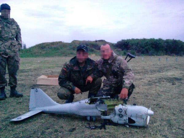 Roztrzaskany Orlan-10, fot: dronezine.it