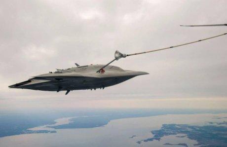 tankowanie X-47B, fot US Navy