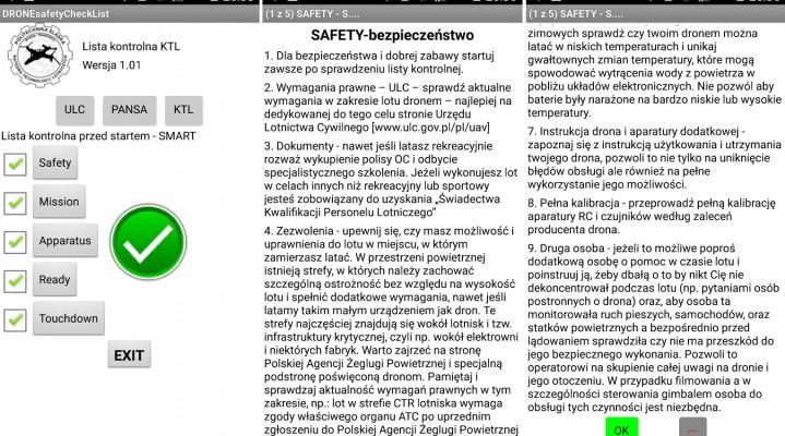 """""""DRONE safety Checklist"""" – czyli polska aplikacja na urządzenia mobilne, wspomagająca pracę operatora drona."""