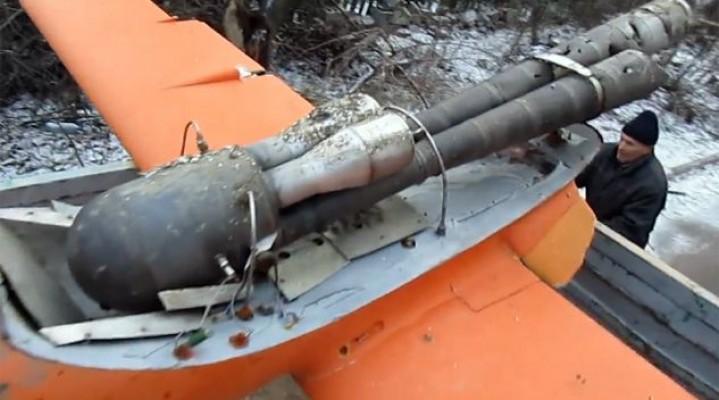 Ukraińcy zestrzelili 4 metrowego drona separatystów.